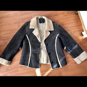 Jackets & Blazers - Genuine shearling leather coat vintage